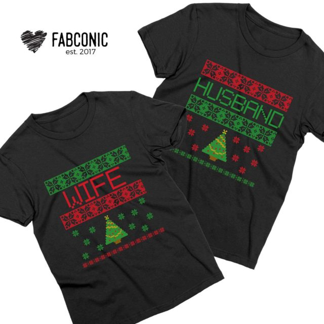 Christmas Gift for Husband, Husband Wife, Christmas Couple Shirts