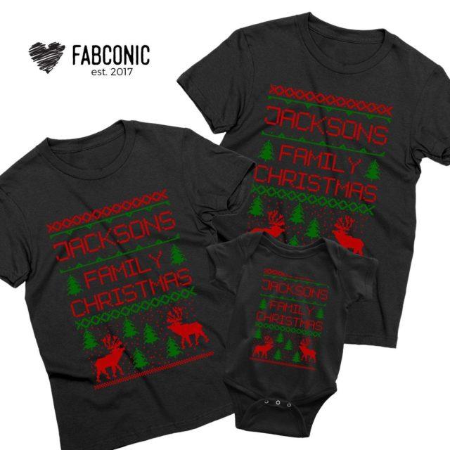 Family Christmas Custom Name, Matching Family Shirts, Custom Shirts