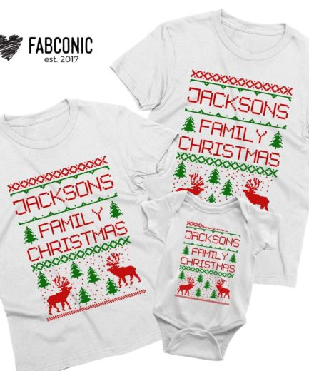 Family Christmas Custom Name, Matching Family Shirts, Custom Shirts