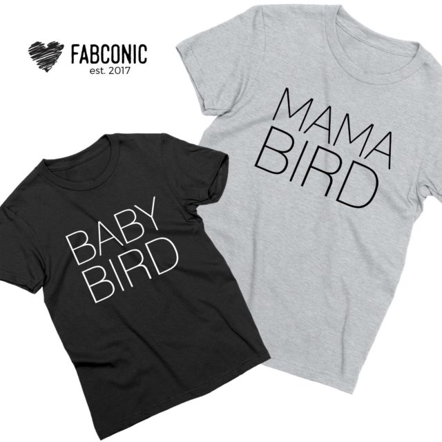 Mama Bird Baby Bird Shirts, Mommy and Me, Mother's Day Shirts