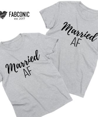 Married AF Couple Shirts, Anniversary Shirts, Honeymoon shirts