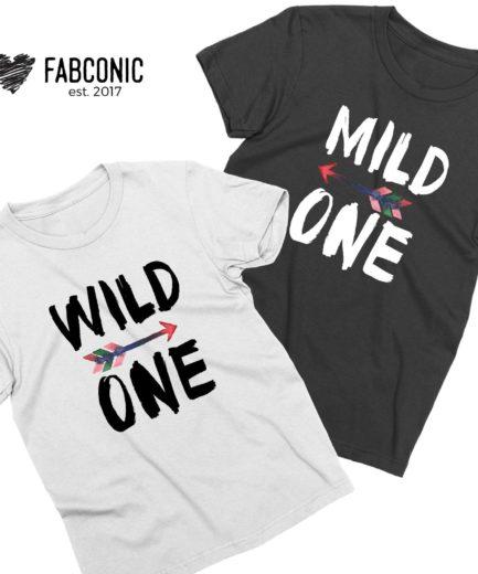 Sister Gift Idea, Mild One Wild One, Best Friends Shirts