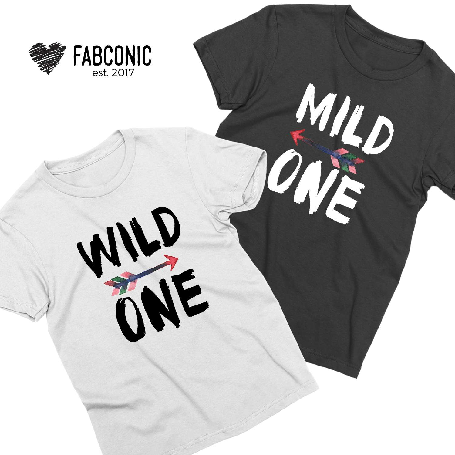 0f948ad9 Sister Gift Idea, Mild One Wild One, Matching Best Friends Shirts