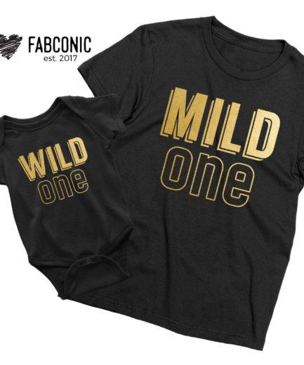 Mild One Wild One Matching Shirts, Family Matching Shirts