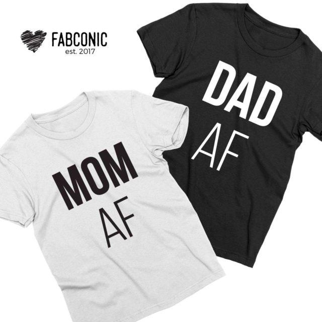 Mom AF Dad AF Shirts, Funny Parents Gift, Mother & Father Shirts