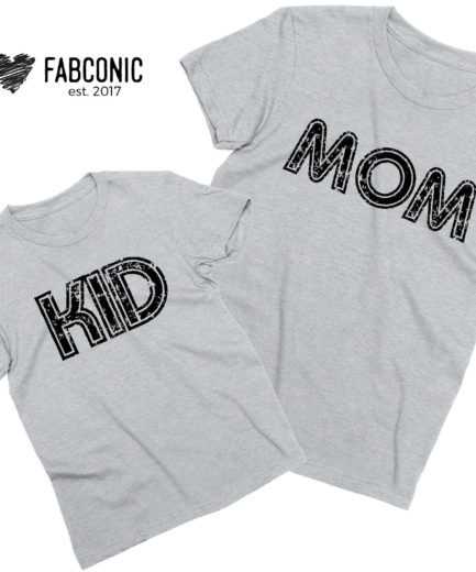 Mom Kid Shirts, Matching Mother & Kid Shirts, Mother's Day Shirts