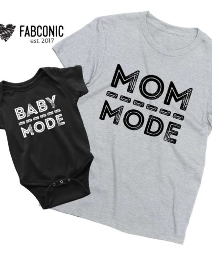 Mom Mode Baby Mode Shirts, Mother & Kid Shirts, Mother's Day Shirts