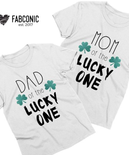 Matching St Patricks Day Outfit, Mom of the Lucky One, Dad of the Lucky One