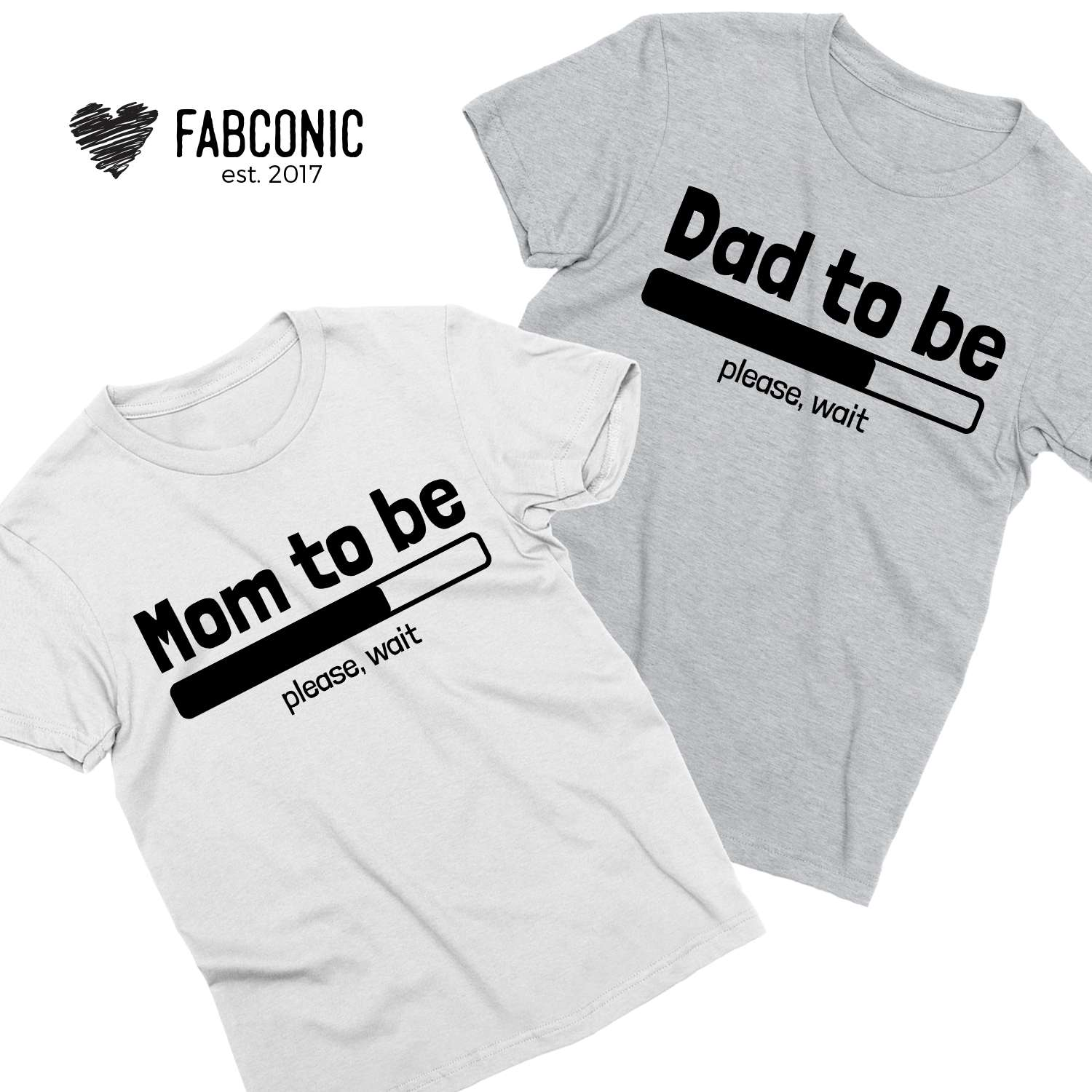 bc734d45 Pregnancy announcement shirts, Loading Mom to be, Dad to be