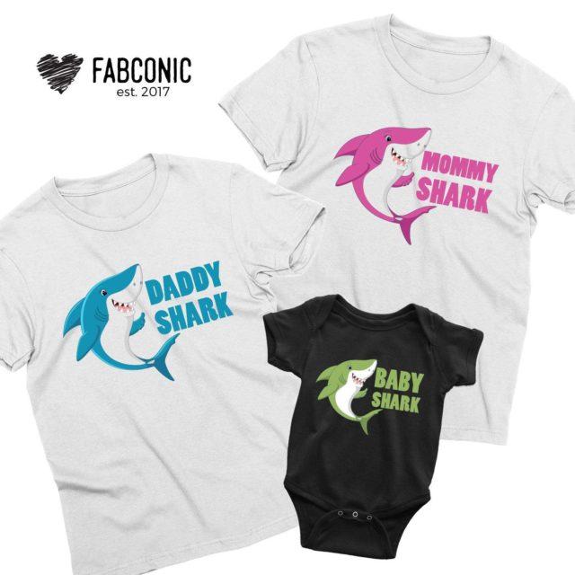 Daddy Shark Doo Doo Shirt, Mommy Shark, Baby Shark, Family Shirt
