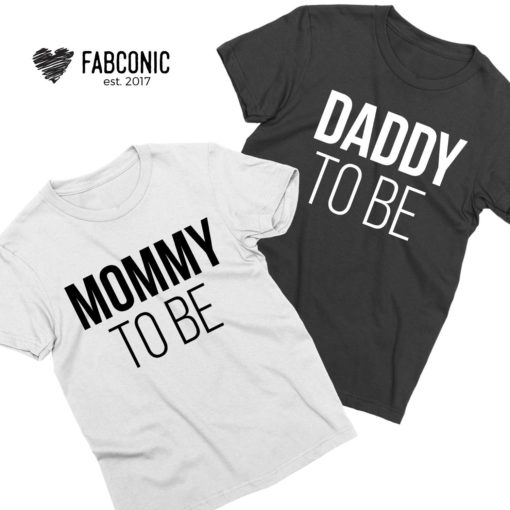 Mommy to be Daddy to be, Couple Shirts, Pregnancy reveal