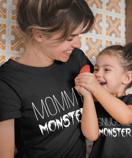 Mommy Monster Snuggle Monster Shirts, Mother & Kid Shirts