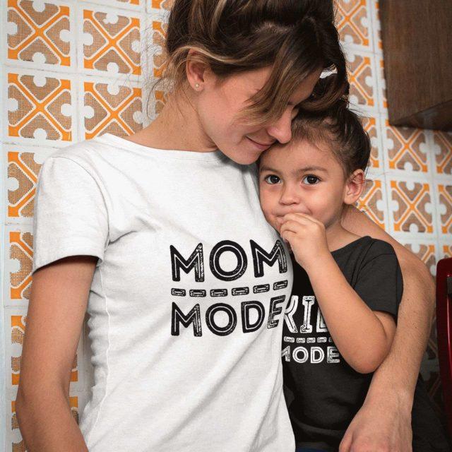Mom Mode Kid Mode Shirt, Matching Mother & Kid Shirts