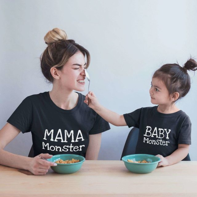 Mama Monster Baby Monster, Mother & Kid Shirts, Mother's Day Shirts