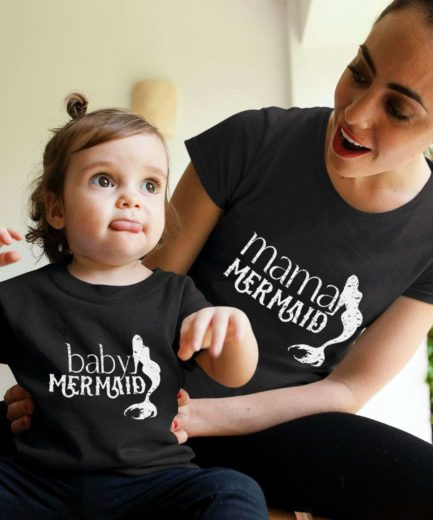 Mama Mermaid Baby Mermaid, Mother & Kid Shirts, Mother's Day Gifts