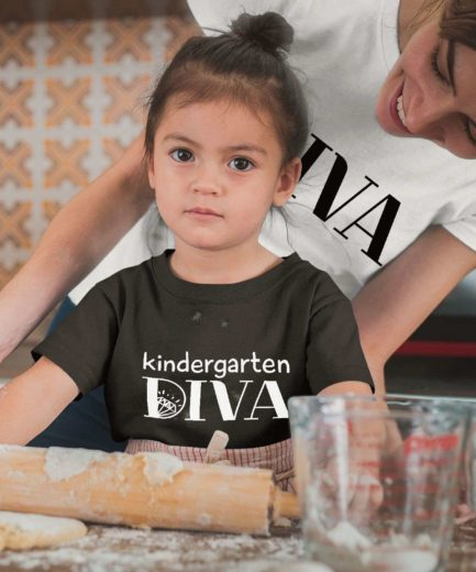 Kindergarten Diva Shirt, Diva, Mother & Kid Shirts