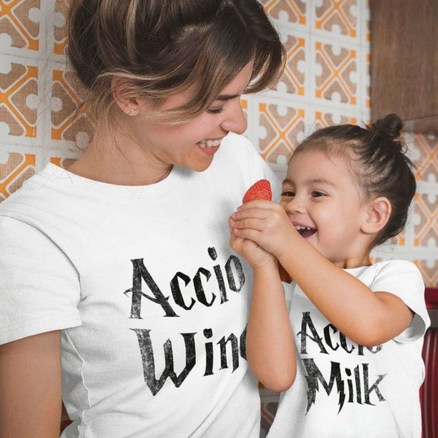 Accio Wine Accio Milk, Mother & Kid Shirts, Mother's Day Outfit