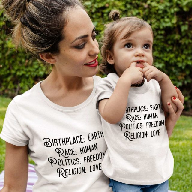 Birthplace Earth Mommy Baby, Family Shirts, Matching Mommy Baby Shirts