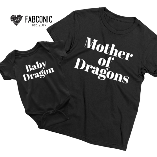 Mother of Dragons shirt, Baby Dragon, Mommy and Me