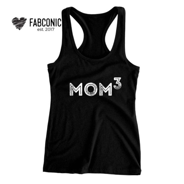 Mom to the Third Gift, Mom of 3, Family Tank Tops, Mom Gift