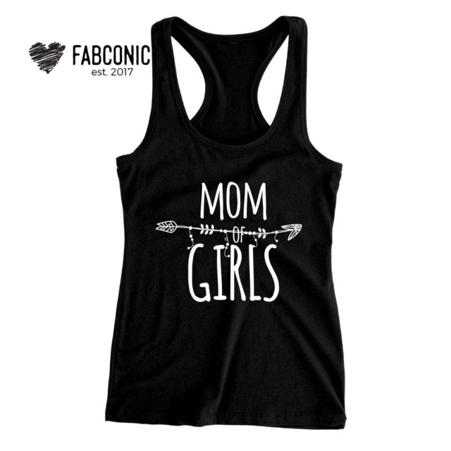 Mom Tank Top, Mom of Girls, Family Tank Tops, Mother's Day Gift