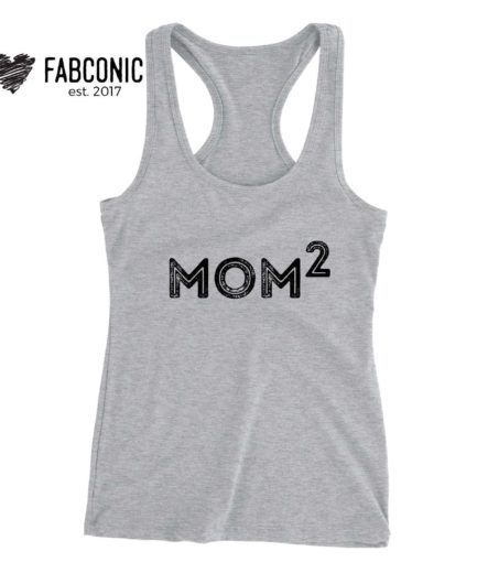 Mom of 2 Tank Top, Mother's Day Gift Idea, Family Tank Tops