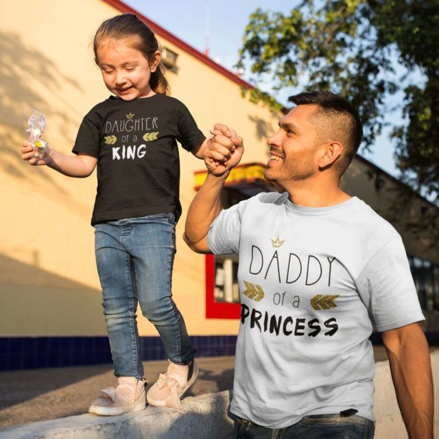 Fathers Day Shirt, Daddy of a Princess, Daughter of a King Shirt