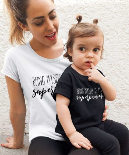 Being Myself is My Superpower Shirt, Mother and Kid Shirts