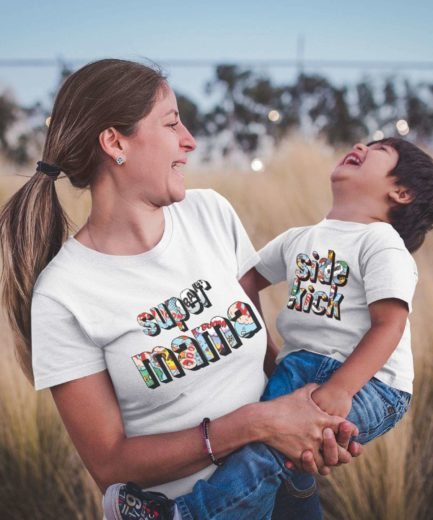 Supermama Sidekick Shirts, Mother and Kid Shirts, Mothe's Day Gift