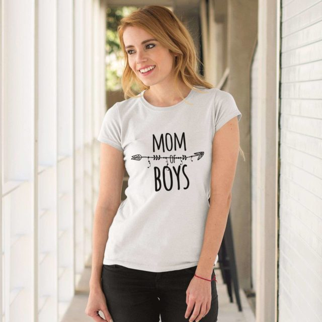 Mom of Boys Shirt, Mom Shirt, Gift for Mother, Family Shirts
