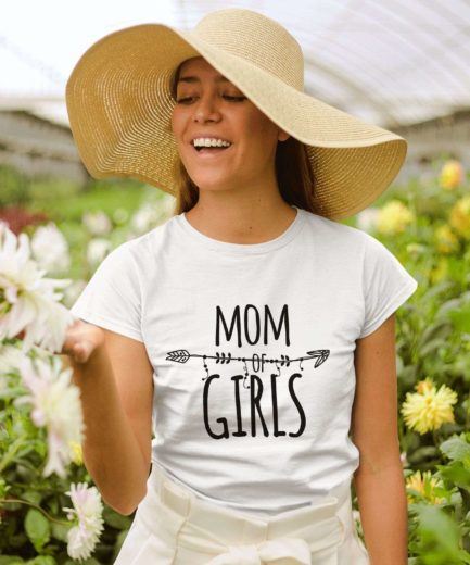 Girls Mom Shirt, Funny Mom Shirt, Mom of Girls, Family Shirts