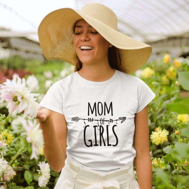 Girls Mom Shirt, Funny Mom Shirt, Mom of Girls, Family Shirts