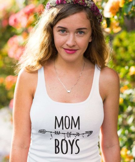Mom of Boys Tank, Mom Outfit, Family Tank Tops, New Mom Gift