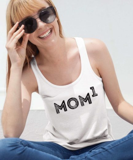 New Mom Gift, Mom of 1, Family Tank Tops, Baby Shower Gift Idea