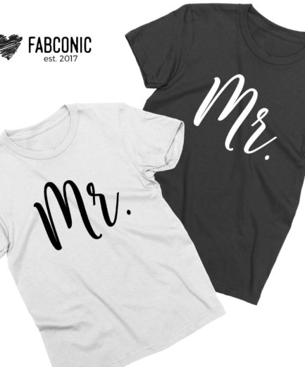 Mr Mr Gay Shirts, LGBT Couple Shirts, Matching Couple