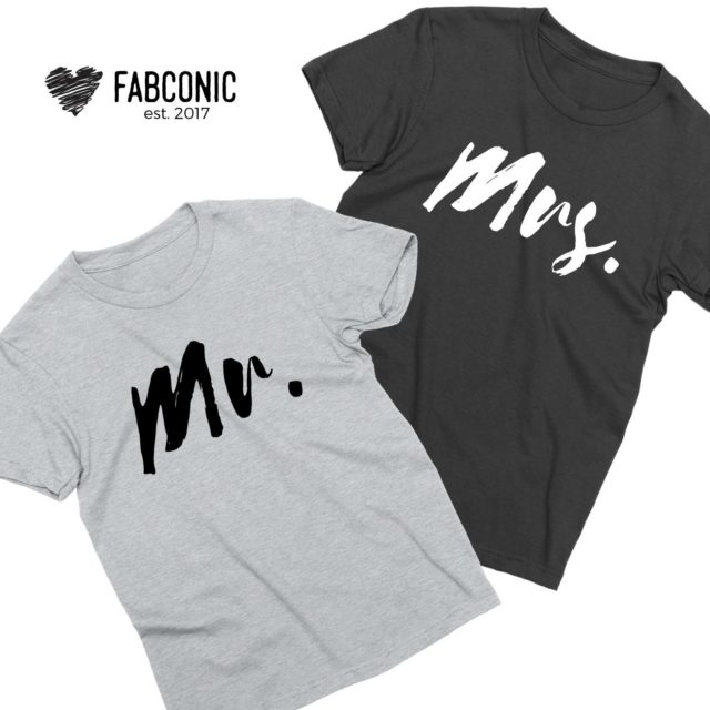 Mr Mrs Shirts, Couple Matching Shirts, His and Hers