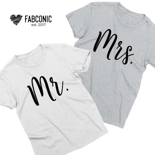 Mr and Mrs Honeymoon Shirts, Couple Shirts, Anniversary Shirts