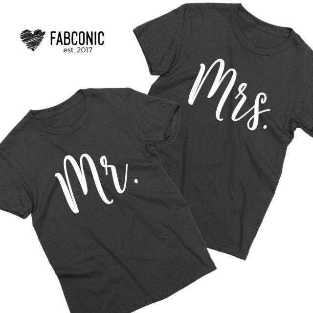 Mr and Mrs, Couple Shirts, Anniversart Gift, Honeymoon Outfit