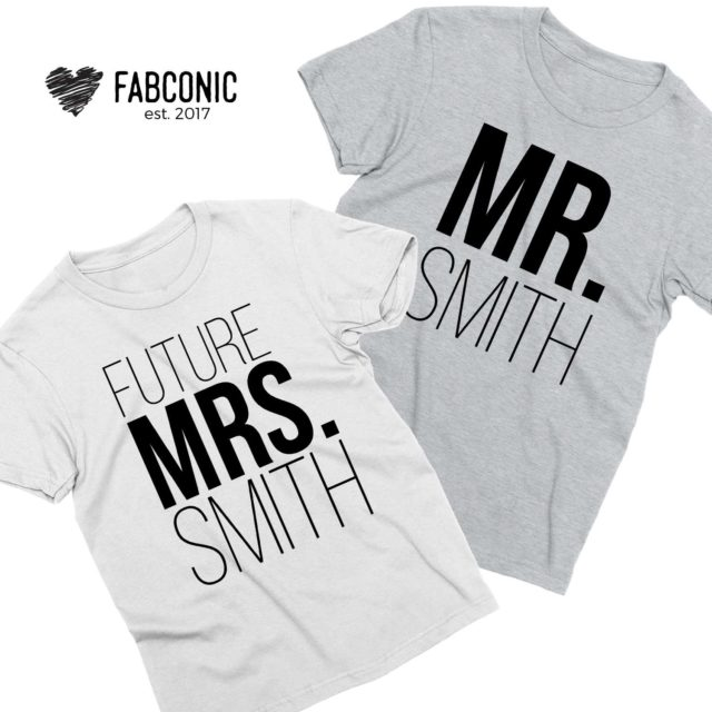 Mr Smith Future Mrs Smith, Couple Shirts, Engagement Shirts
