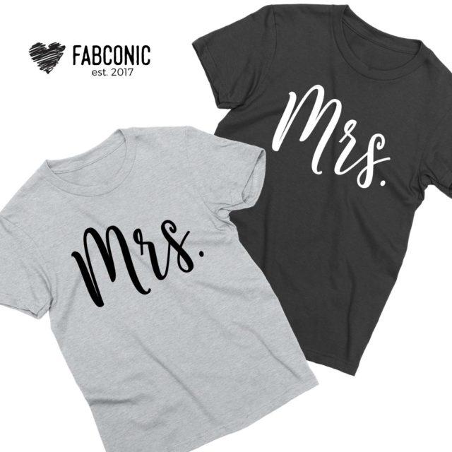 Mrs Mrs Couple Shirts, Matching LGBT Shirts, Couple Shirts