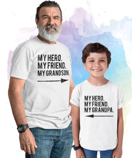 Gift for Grandpa, My Hero My Friend My Grandpa, My Grandson, Grandparents Gift