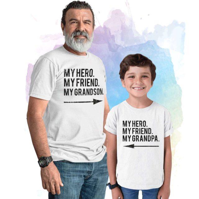 Gift for Grandpa, My Hero My Friend My Grandpa, My Grandson, Grandparents Gift