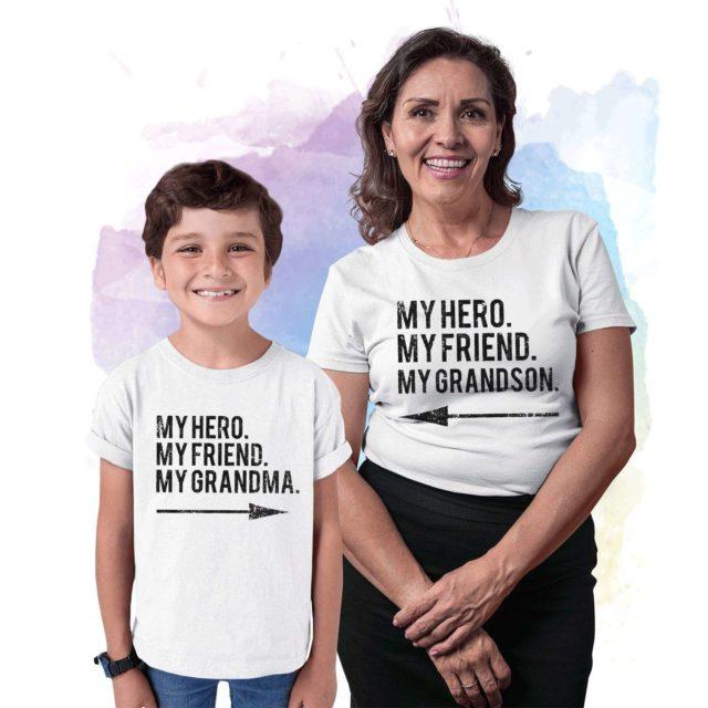 Gift for Grandma, My Hero My Friend My Grandma, My Grandson, Grandparent Gift