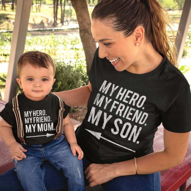 Mother's Day Shirts, My Hero My Friend My Mom, My Hero My Friend My Son