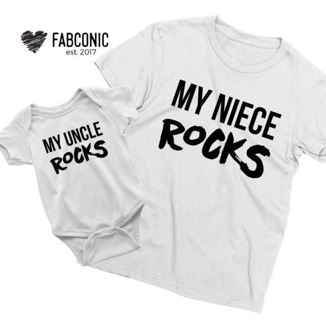 Uncle Gift Shirt, My Uncle Rocks, My Niece Rocks, Family Shirts