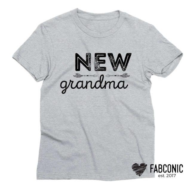 New Grandma Shirt, Grandparents Shirts, Gift for Grandma
