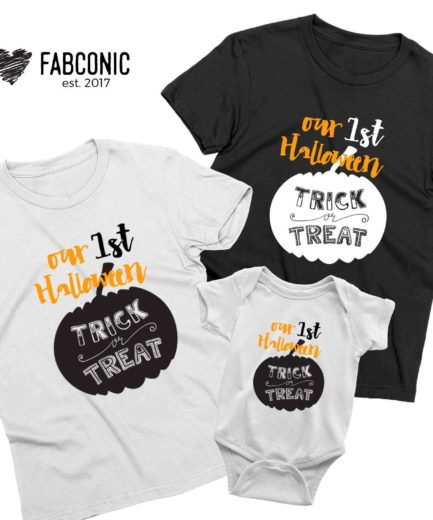 Our First Halloween, Halloween Family Shirts, Funny Halloween Gift