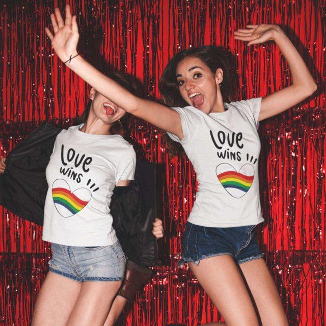 Love Wins Rainbow Shirts, Couple Shirts, Matching LGBT Shirts