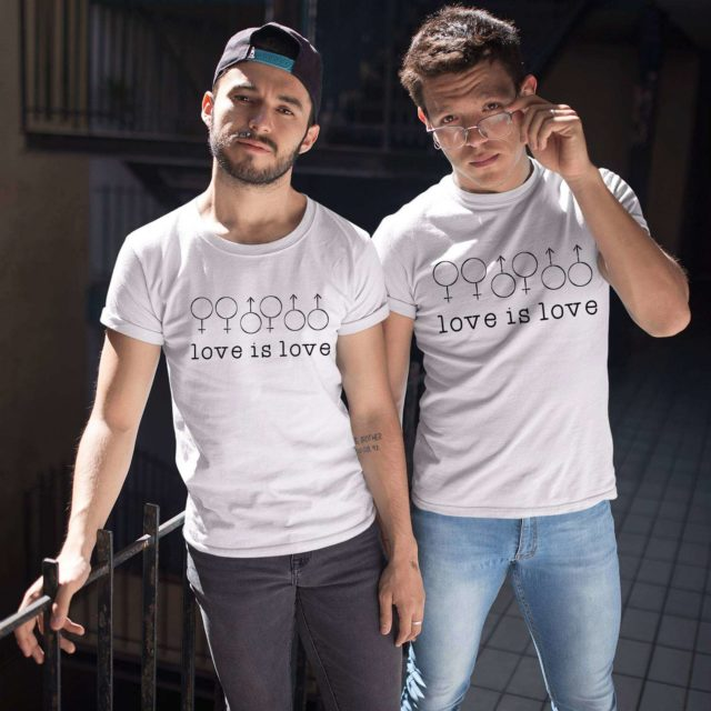 LGBT Pride Shirts, Love is Love, Matching Couple Shirts