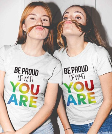 Be Proud of Who You Are Shirts, Matching Couple Shirts